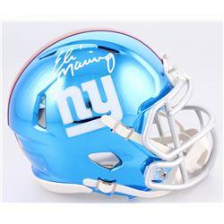 Eli Manning Signed New York Giants Chrome Speed Mini-Helmet (Steiner Hologram)