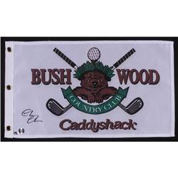"Chevy Chase Signed ""Caddyshack"" Golf Pin Flag (Schwartz COA  Chase Hologram)"