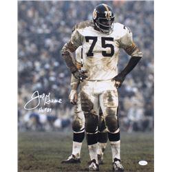 """Joe Greene Signed Pittsburgh Steelers 16x20 Photo Inscribed """"HOF 87"""" (JSA COA)"""