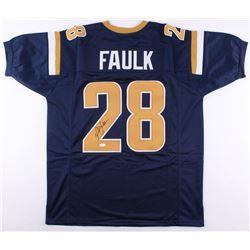 Marshall Faulk Signed St. Louis Rams Jersey (JSA COA)