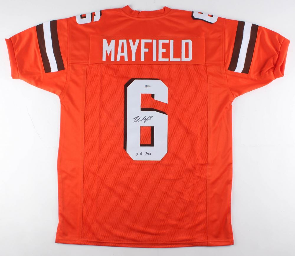 new photos 8365e 58d40 Baker Mayfield Signed Cleveland Browns Jersey Inscribed ...