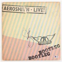 """Steven Tyler Signed """"Live! Bootleg"""" Vinyl Record Album (PSA COA)"""