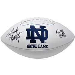 """Rudy Ruettiger Signed Notre Dame Fighting Irish Logo Football Inscribed """"Never Quit"""" (JSA COA)"""