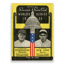 1933 World Series New York Giants vs Washington Nationals Baseball Program