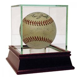 1941 New York Yankees OAL Baseball Team-Signed by (28) with Red Ruffing, Joe DiMaggio, Bill Dickey,