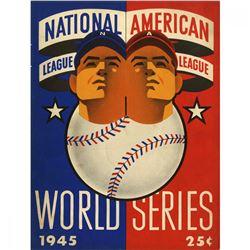1945 World Series Detroit Tigers vs Chicago Cubs Baseball Program