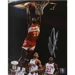 Dominique Wilkins Signed Atlanta Hawks 8x10 Photo (JSA COA)