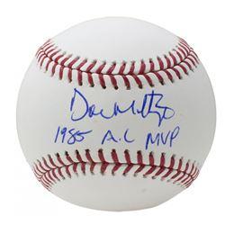 "Don Mattingly Signed OML Baseball Inscribed ""1985 A.L. MVP"" (JSA COA)"