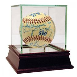 1952 Yankees, Dodgers  Cardinals ONL Baseball Signed by (20) with Red Schoendienst, Yogi Berra, Whit