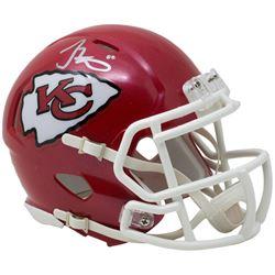 Tyreek Hill Signed Kansas City Mini Speed Helmet (JSA COA)