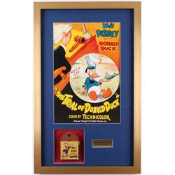 Vintage 1940's Walt Disney's Donald Duck 17.5x28 Custom Framed Film Reel Display