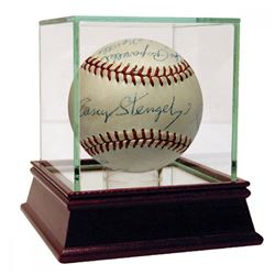1954 New York Yankees OAL Baseball Team-Signed by (18) with Mickey Mantle, Yogi Berra, Phil Rizzuto