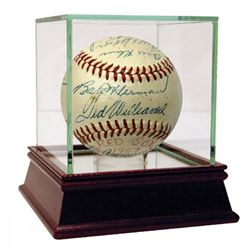 1957 Boston Red Sox OAL Baseball Team-Signed by (20) with Ted Williams, Jim Piersall, Bob Porterfiel