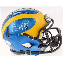 Jabrill Peppers Signed Michigan Wolverines Chrome Speed Mini Helmet (JSA COA)