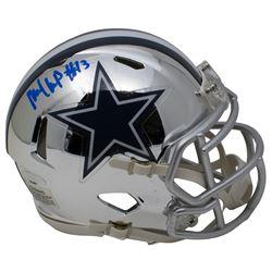 Michael Gallup Signed Dallas Cowboys Chrome Speed Mini-Helmet (TriStar Hologram)