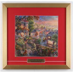 "Thomas Kinkade Walt Disney's ""Lady And The Tramp"" 17.5x18 Custom Framed Print Display"