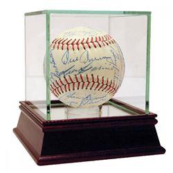 1959 White Sox  Yankees Baseball Signed by (35) with Joe Gordon, Casey Stengel, Whitey Ford  High Qu