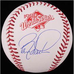 Barry Larkin Signed 1990 World Series Baseball (Schwartz COA)