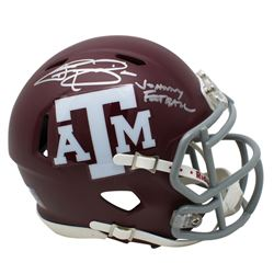 "Johnny Manziel Signed Texas AM Aggies Matte Red Speed Mini-Helmet Inscribed ""Johnny Football"" (JSA C"