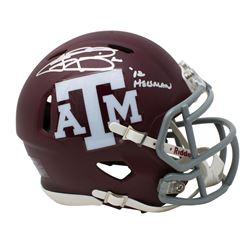 "Johnny Manziel Signed Riddell Texas AM Aggies Matte Red Speed Mini-Helmet Inscribed ""'12 Heisman"" (J"