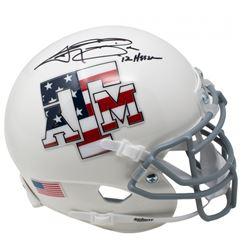 """Johnny Manziel Signed Texas AM Aggies """"Stars  Stripes"""" Schutt Mini Helmet Inscribed """"'12 Heisman"""" (J"""