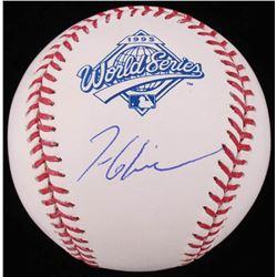 Tom Glavine Signed 1995 World Series Logo Baseball (Schwartz COA)