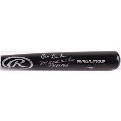 """Mookie Wilson  Bill Buckner Signed Rawlings Pro Baseball Bat Inscribed """"10/25/86"""" (JSA COA)"""