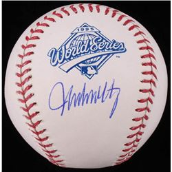 John Smoltz Signed 1995 World Series Logo Baseball (Schwartz COA)