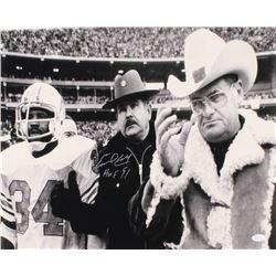 "Earl Campbell Signed Houston Oilers 16x20 Photo Inscribed ""HOF 91"" (JSA COA)"