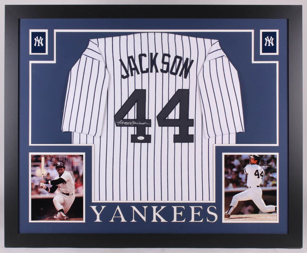 low priced 04c52 5388d Reggie Jackson Signed New York Yankees 35x43 Custom ...
