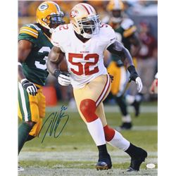 Patrick Willis Signed San Francisco 49ers 16x20 Photo (JSA COA)