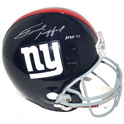 "Frank GIfford Signed Giants Full Size Throwback Helmet Inscribed ""HOF 77"" (JSA COA)"