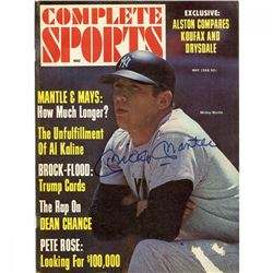 Mickey Mantle Signed 1968 Complete Sports Magazine (JSA COA)