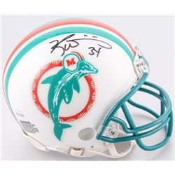 Ricky Williams Signed Miami Dolphins Throwback Mini Helmet (JSA COA)