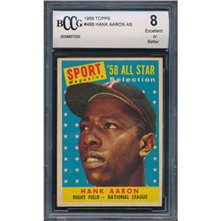 1958 Topps #488 Hank Aaron All Star (BCCG 8)