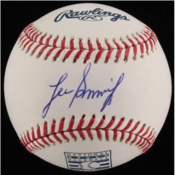 Lee Smith Signed Hall of Fame OML Baseball (JSA COA)