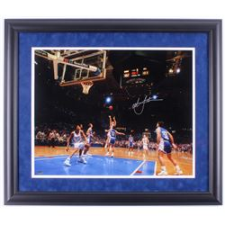 Christian Laettner Signed Duke Blue Devils 23x27 Custom Framed Photo Display (Schwartz COA)