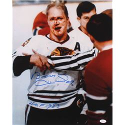 "Bobby Hull Signed Chicago Blackhawks 16x20 Photo Inscribed ""HOF 1983"" (JSA COA)"