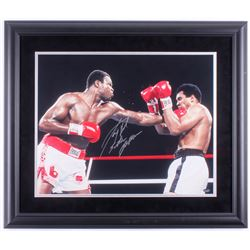 "Larry Holmes Signed 23x27 Custom Framed Photo Display Inscribed ""Easton Assassin"" (Schwartz COA)"