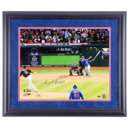 Addison Russell Signed Chicago Cubs 2016 World Series 23x27 Custom Framed Photo Display (Schwartz CO