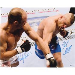 Chuck Liddell  Randy Couture Signed UFC 16x20 Photo (Beckett COA)