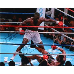 "Mike Tyson  James ""Buster"" Douglas Signed 16x20 Photo Inscribed ""Tyson KO""  ""2/10/90"" (JSA COA)"