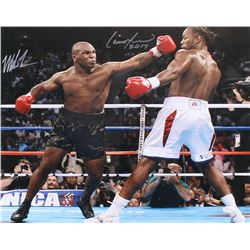 "Mike Tyson  Lennox Lewis Signed 16x20 Photo Inscribed ""2017"" (JSA COA)"