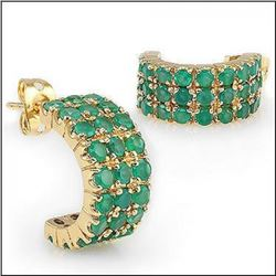 5.17 CT Emerald Designer Earrings