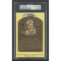 Jim Palmer Signed Gold Hall of Fame Plaque Postcard (PSA Encapsulated)