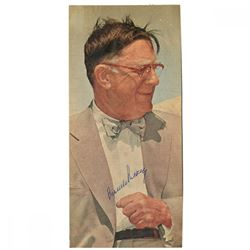 Branch Rickey Signed 5x11 Newspaper Photo (JSA Hologram)