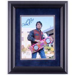 "Michael J. Fox Signed ""Back to the Future"" 14x17 Custom Framed Photo Display (JSA COA)"