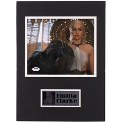 "Emilia Clarke Signed ""Game of Thrones"" 12x16 Custom Matted Photo Display (PSA COA)"