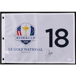 Sergio Garcia Signed 2018 Ryder Cup Golf Pin Flag (JSA COA)