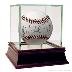 Carrie Fisher Signed OML Baseball with High Quality Display Case (PSA COA)